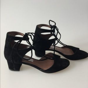 TABITHA SIMMONS // Lace up suede sandals